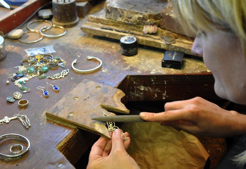 Fiona MacInnes working with jewellery crop