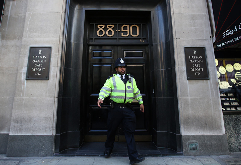 Police Investigate Robbery At Hatton Garden Safety Deposit Box Company