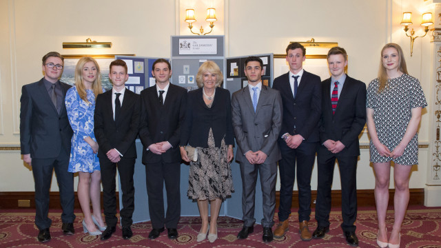 Foundation Programme Students and HRH The Duchess of Cornwall © Phil McCarthy, 2015