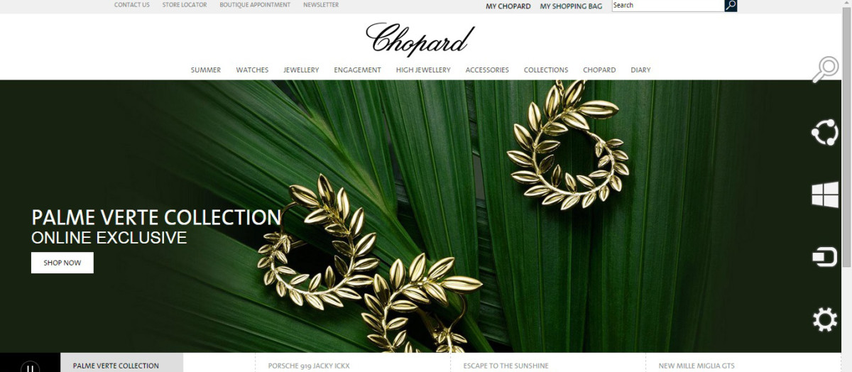 Chopard website