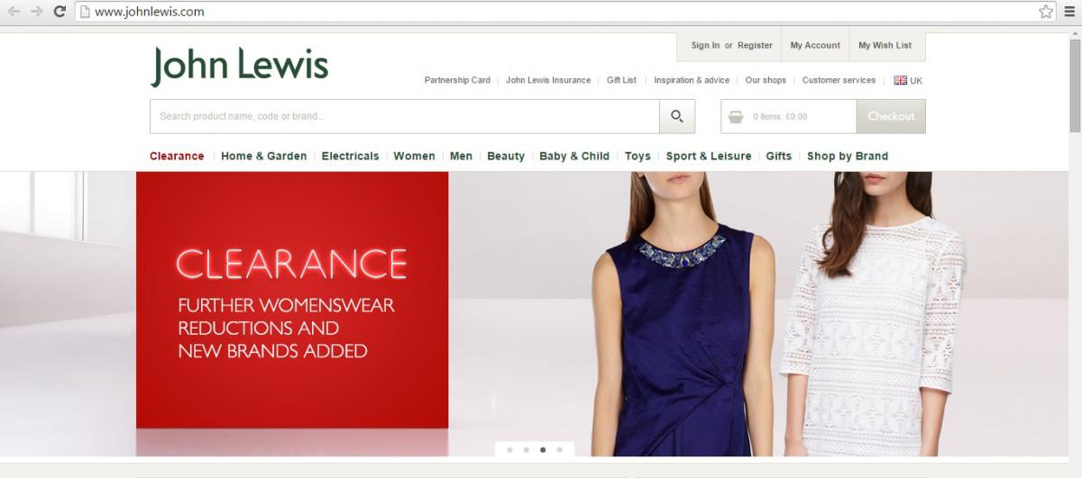John Lewis website