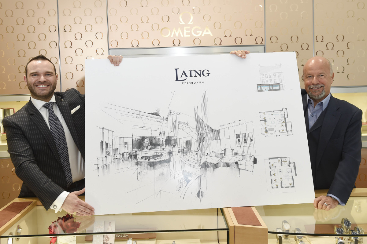 Laing Edinburgh – Richard Laing director with Michael Laing OBE with new store layouts