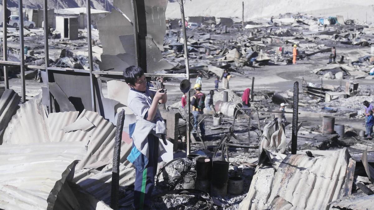 MACDESA fire charred buildings