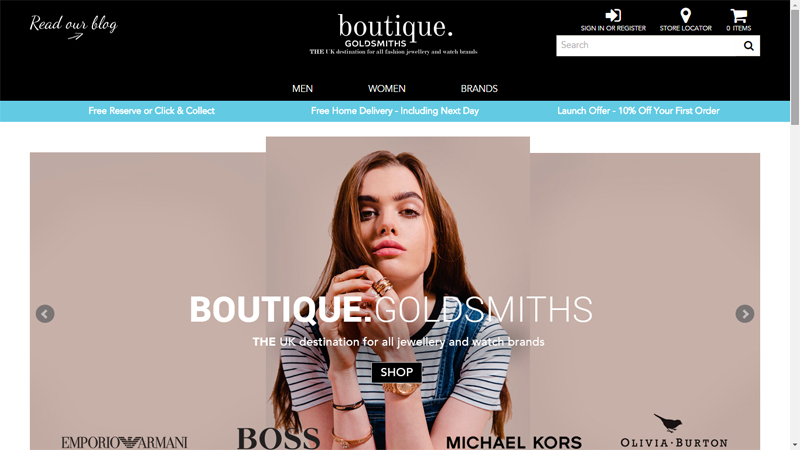 Boutique_Goldsmiths website