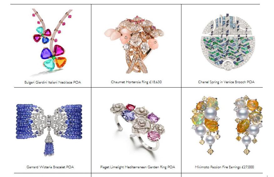 Harrods bespoke jewels
