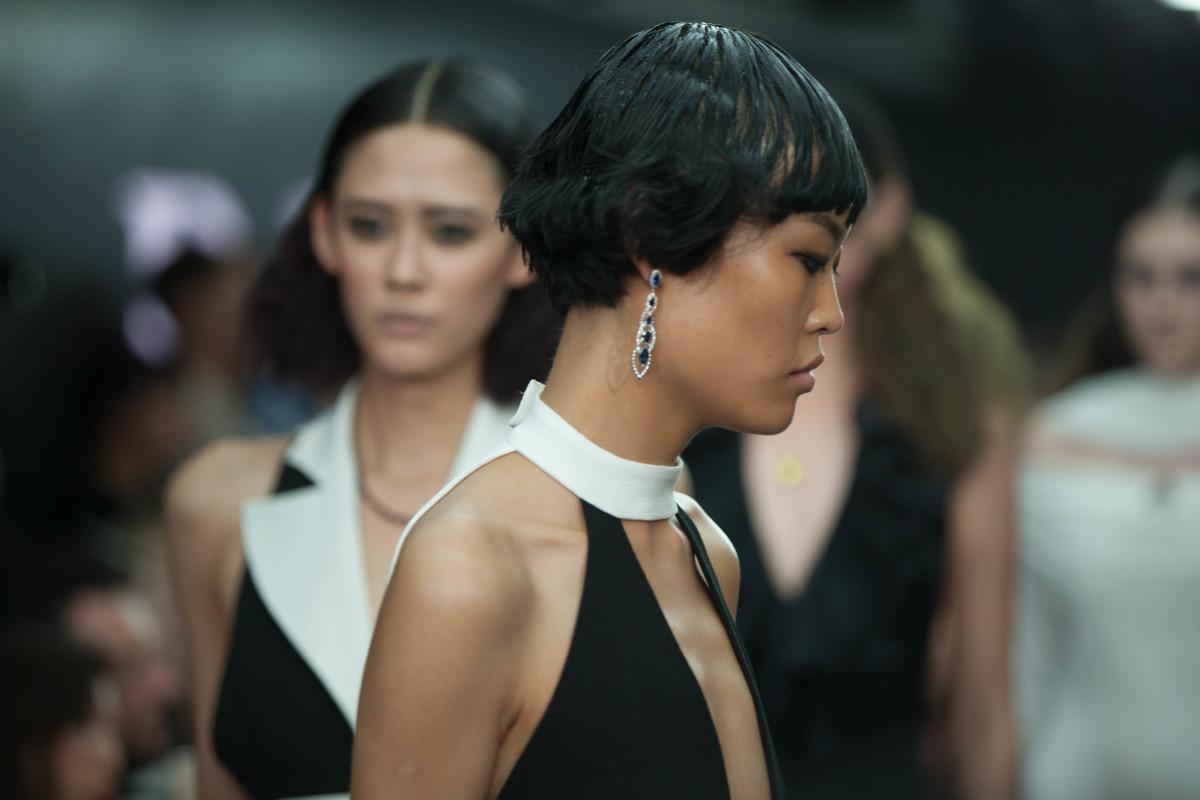 Rocks & Co 9K Laos Sapphire and White Sapphire Earrings