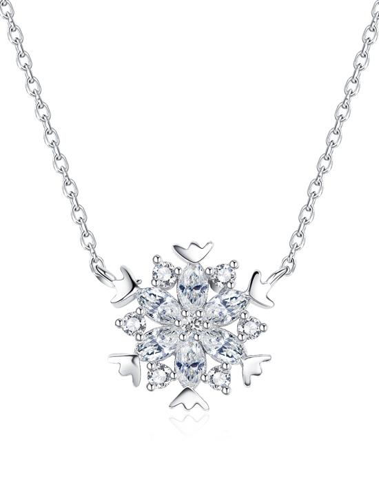 Kaleidoscopic Snowflake Pendant