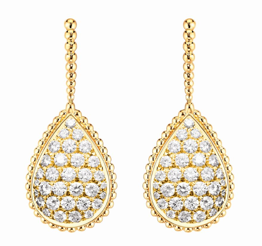 Boucheron LR Serpent Boheme yellow gold sleeper earrings