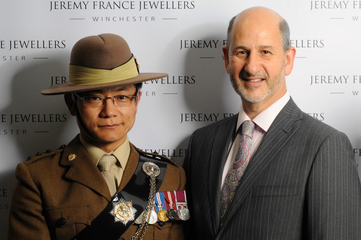 Captain Dhungana Rai and Jeremy France