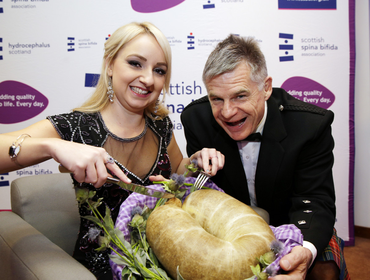Spina Bifida Burns Supper 2015 – Nicola Cassells (SBH Scotland ambassador), John Beattie