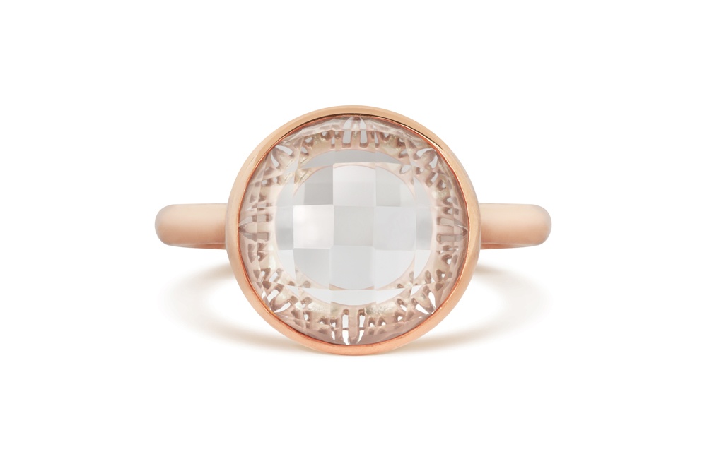 Cred Jewellery – Rose Gold Signatire Stone Ring – £144