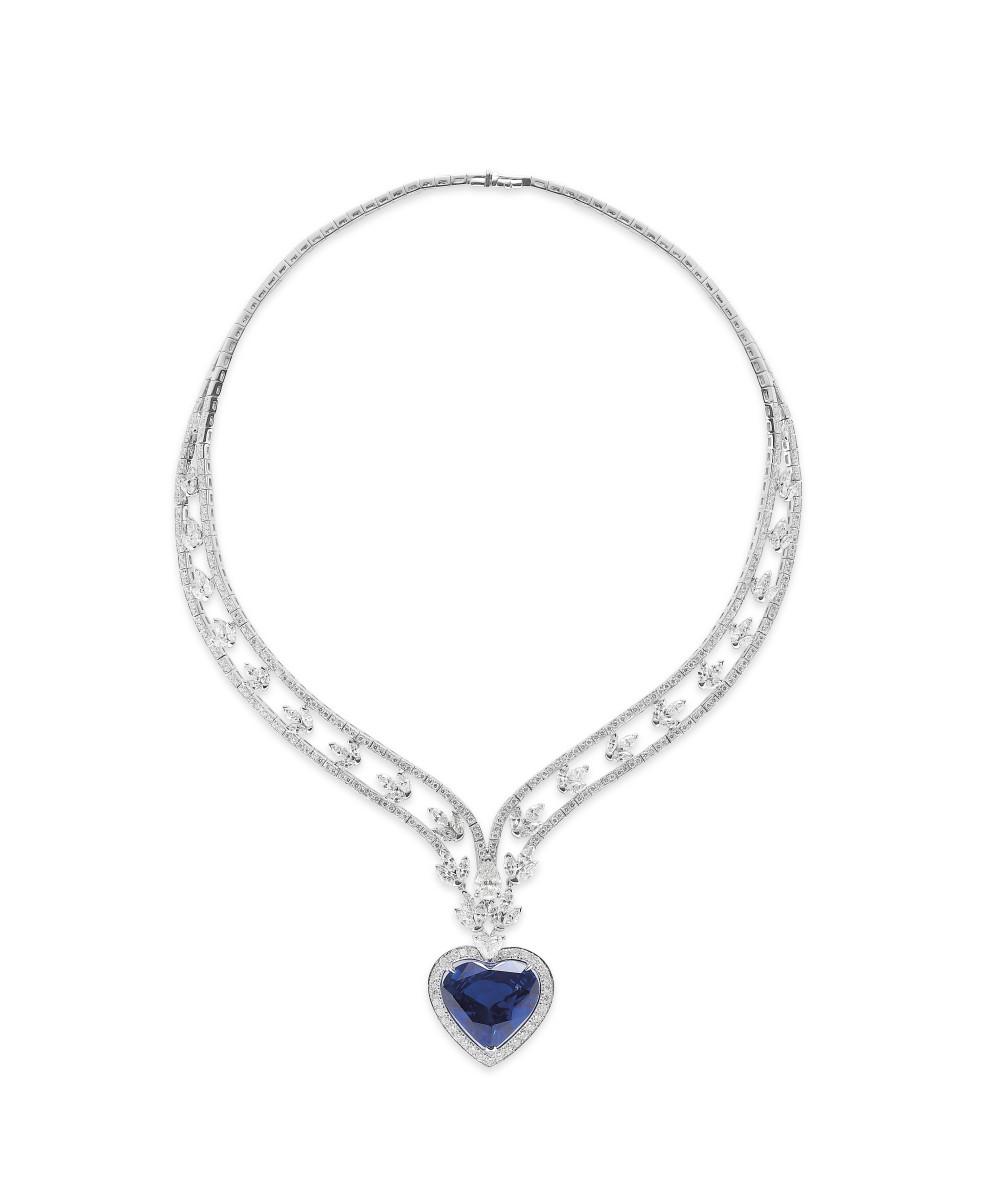 Love is blue Diamond & Sapphire Suite_Neckklace