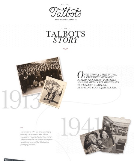 Talbots – Story Landing Page