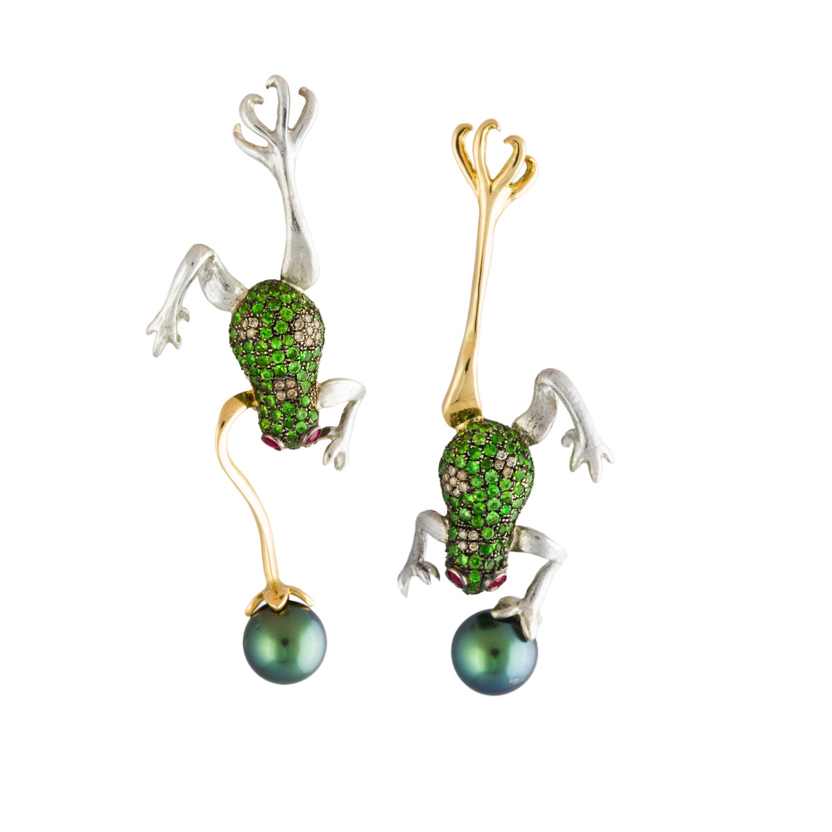 FROGS, earrings, Couture, The Garden of Earthly Delights collection, Gaelle Khouri, £2,414