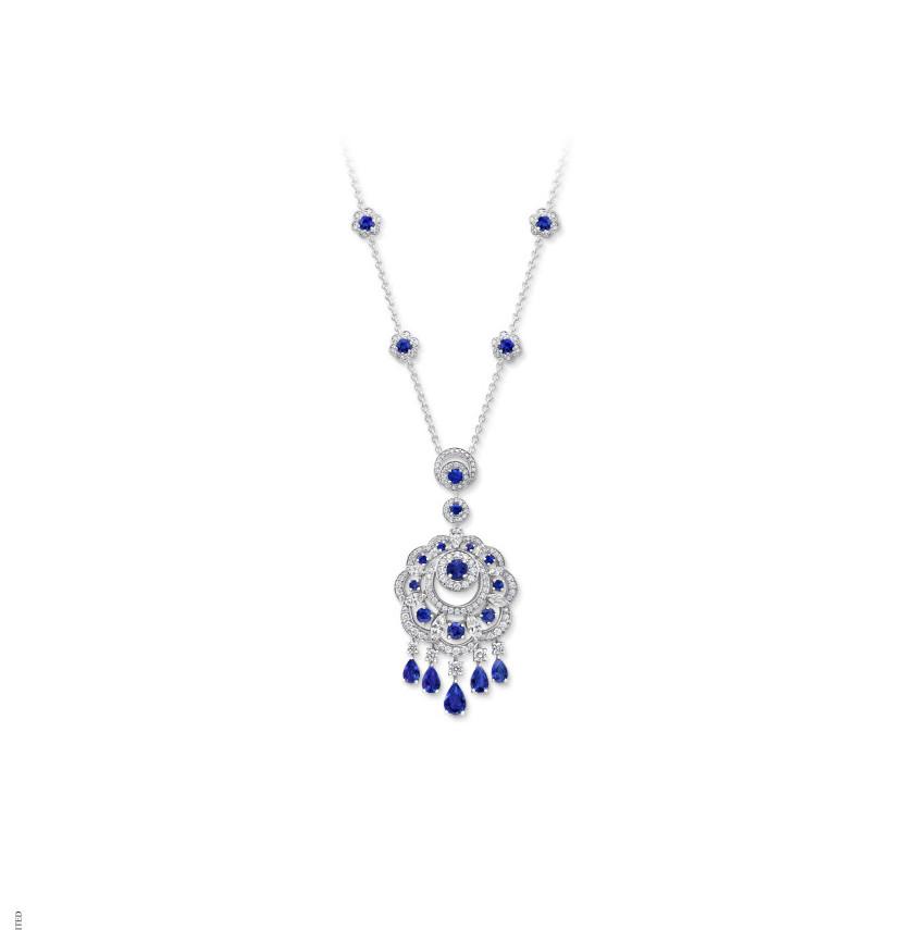 RGP540 Sunburst Sapphire Necklace