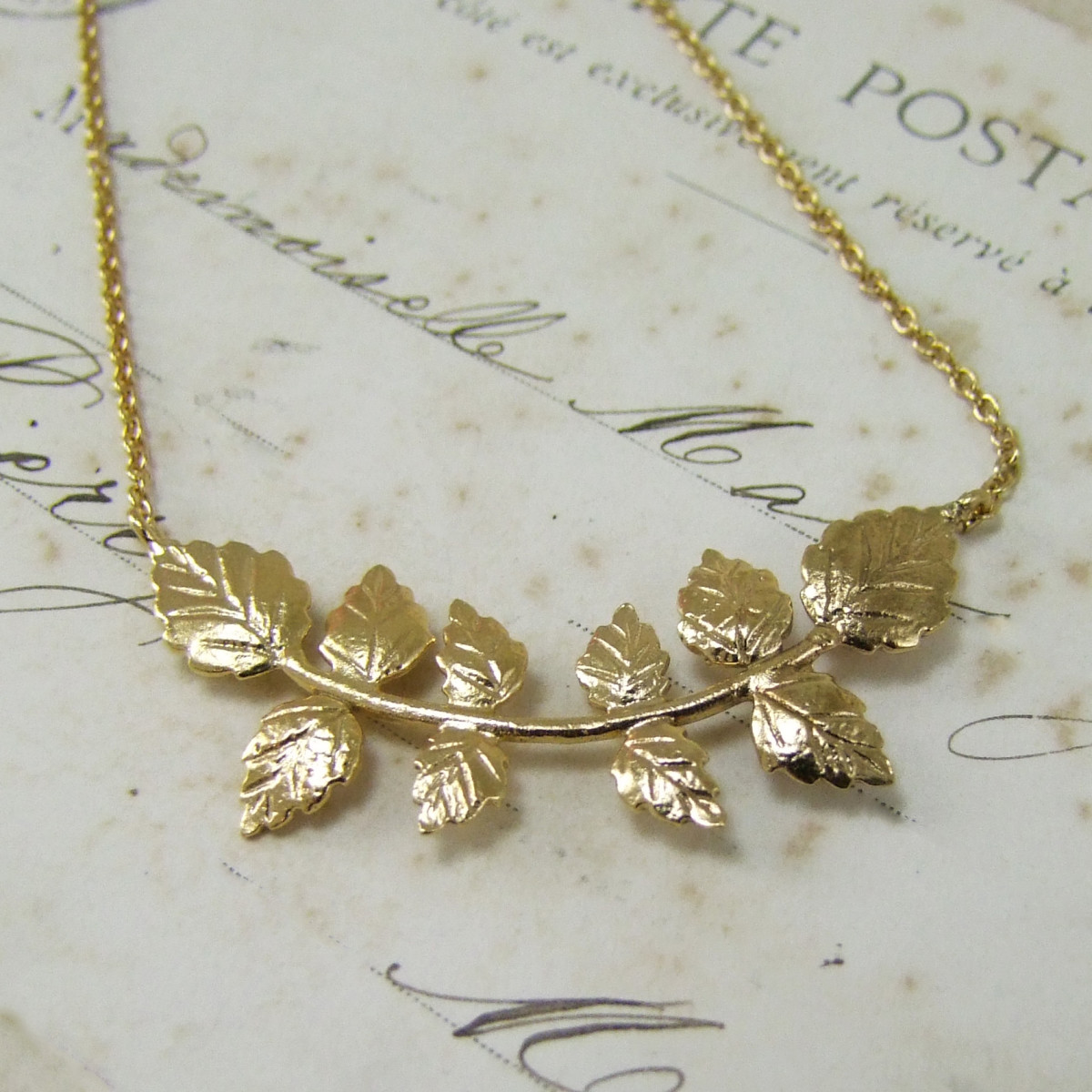 Rose Leaf Necklace
