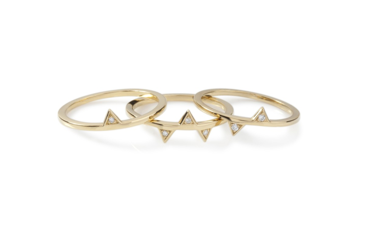 Charlotte Scott Moncrieff Disko Trio rings (18k gold & diamonds) SERAC Collection CF Concept IJLKickStarter 2016