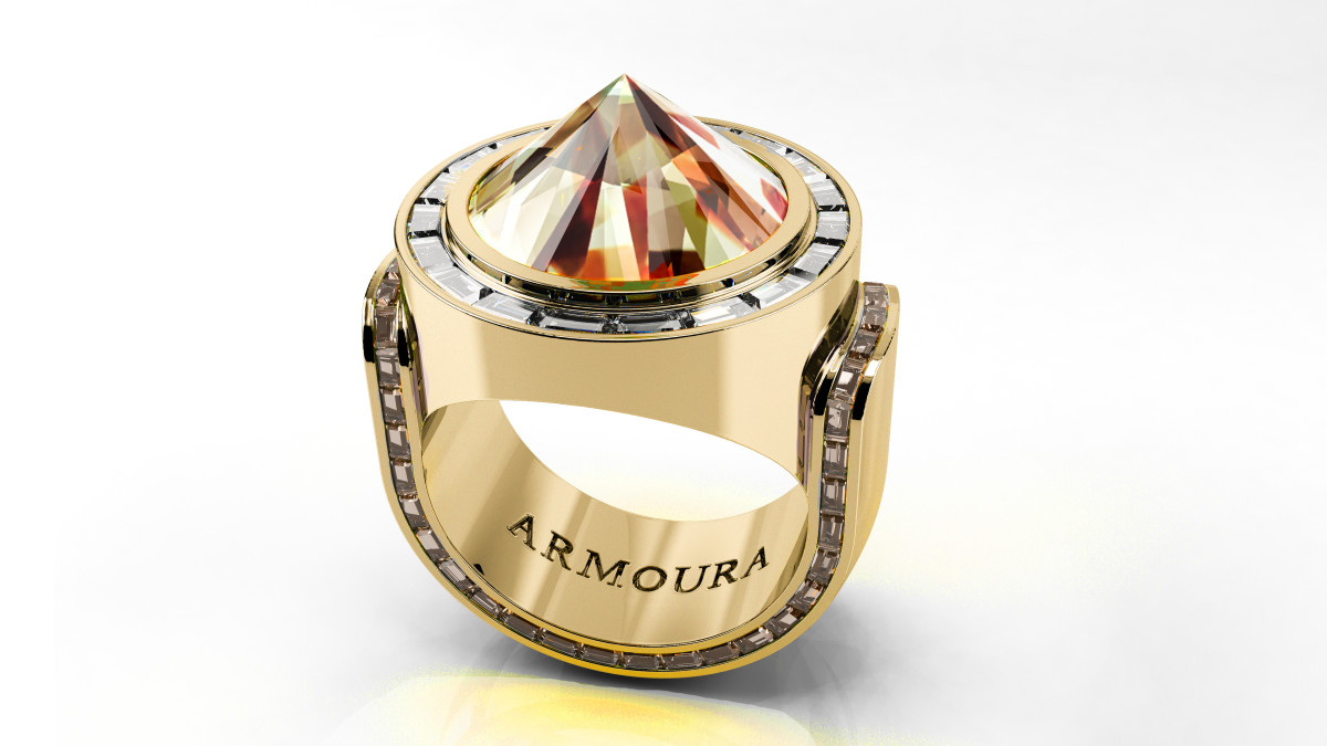 Zultanite Spike ring in gold