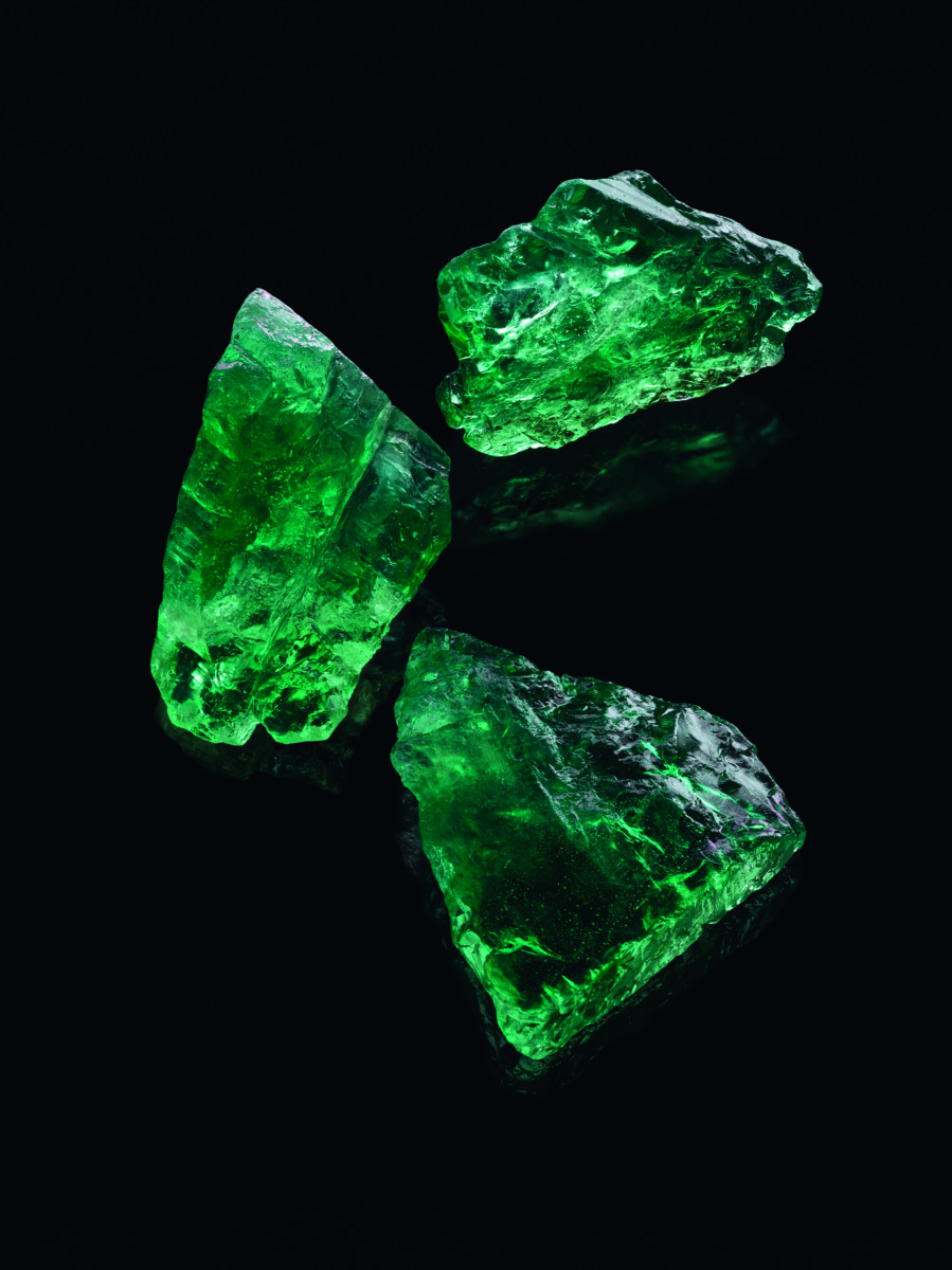 Gemfields rough Emeralds