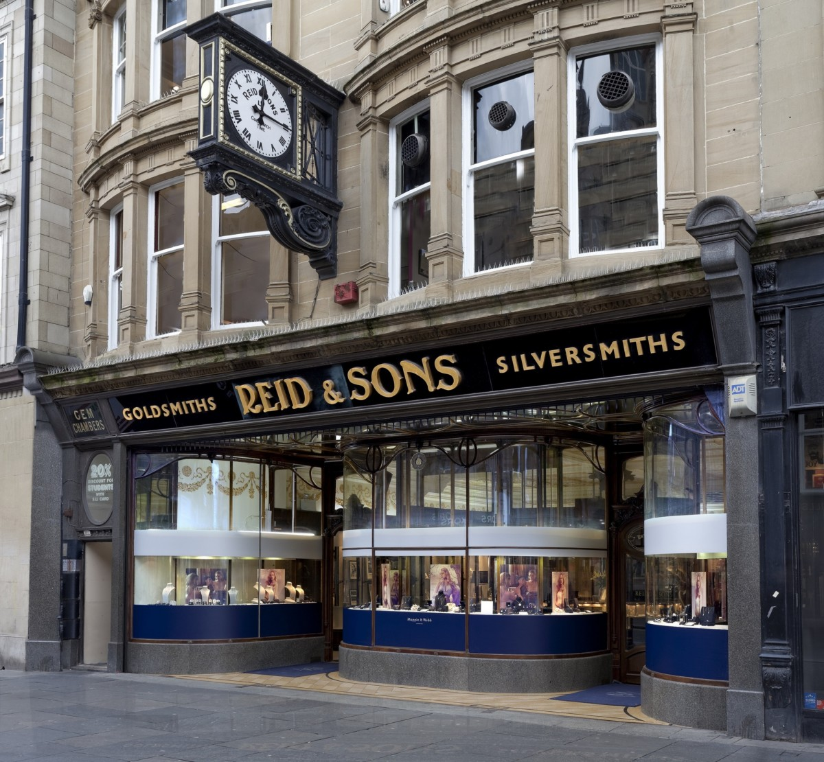 Historic jewellers Reid & Sons on Blackett Street