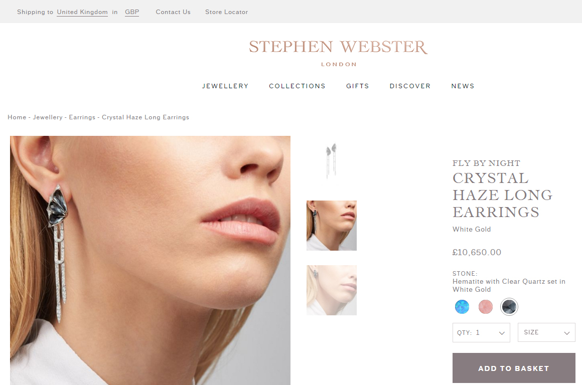 Stephen Webster website