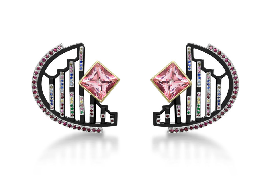 Thalurania Colombica Earrings (front) - Vicky Lew London