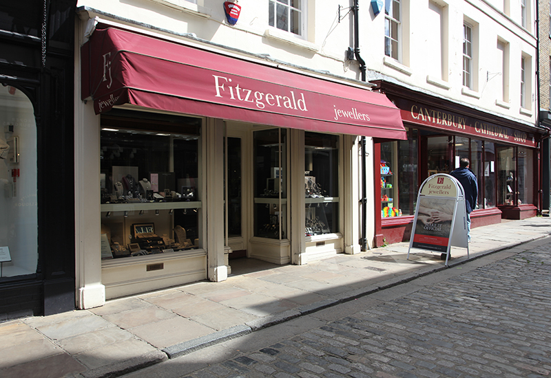 Fitzgerald jewellers, Burgate in Canterbury