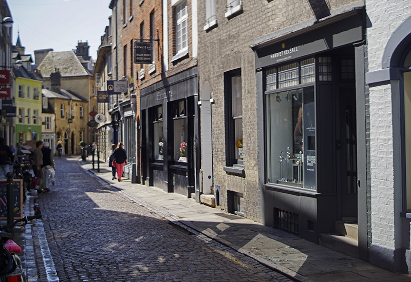 Exterior of the Harriet Kelsall Bespoke Jewellery store on Green Street