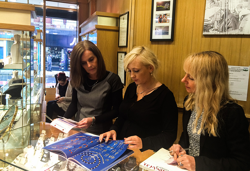 Andrea Bywater (left) runs a close-knit family jewellers.