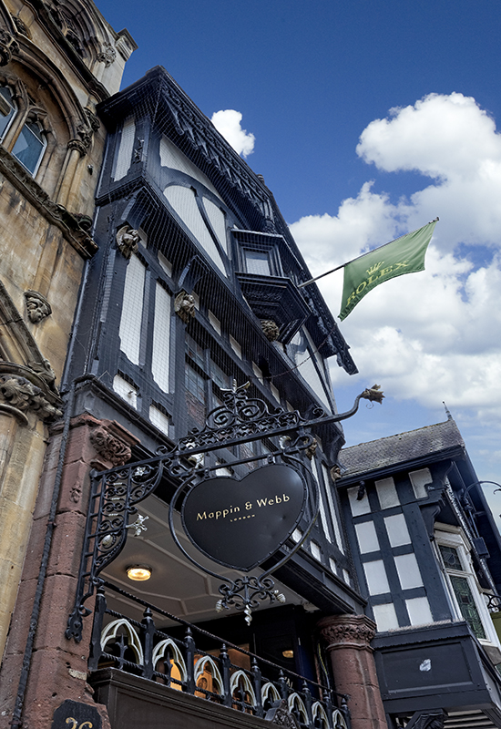 Although Mappin & Webb's Chester store only opened three years ago, there has been a jeweller on the site since 1633.