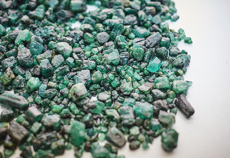 Gemfields_Rough Emeralds_Gubelin Gem Lab_Emerald Paternity Test crop
