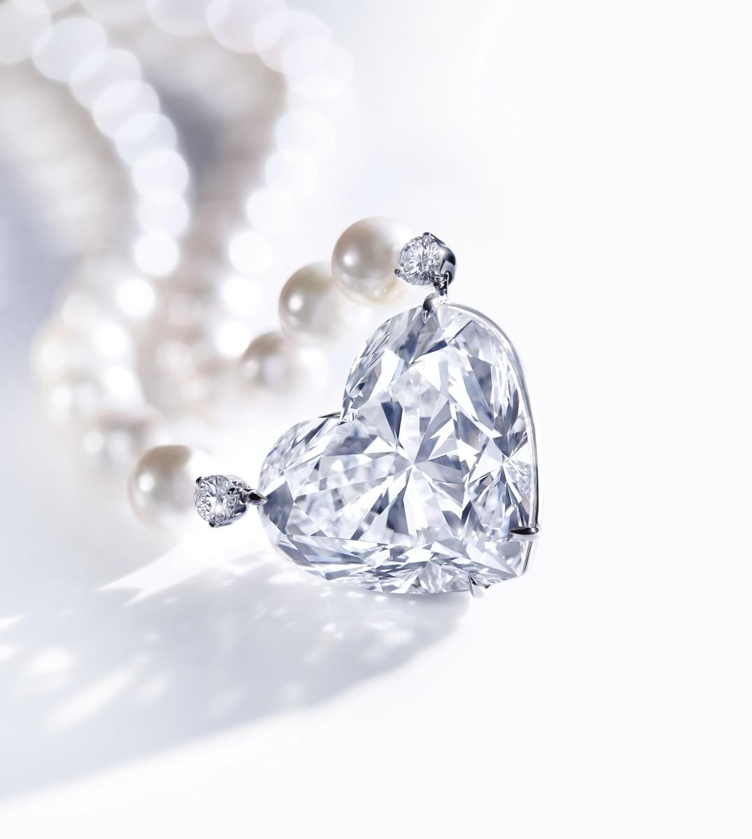 Boehmer et Bassenge heart shaped diamond