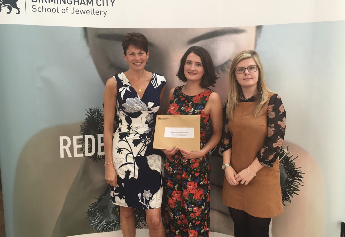 Fabulous owner, Jo Stroud, with winner Rhiannon Rodgers, and Brand & Buying Manager, Sinade Prosser