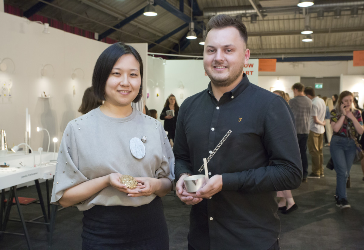 New Designers Goldsmiths' Company Award winners Miki Asai and Andrew Fleming. Photography by thedpc.com