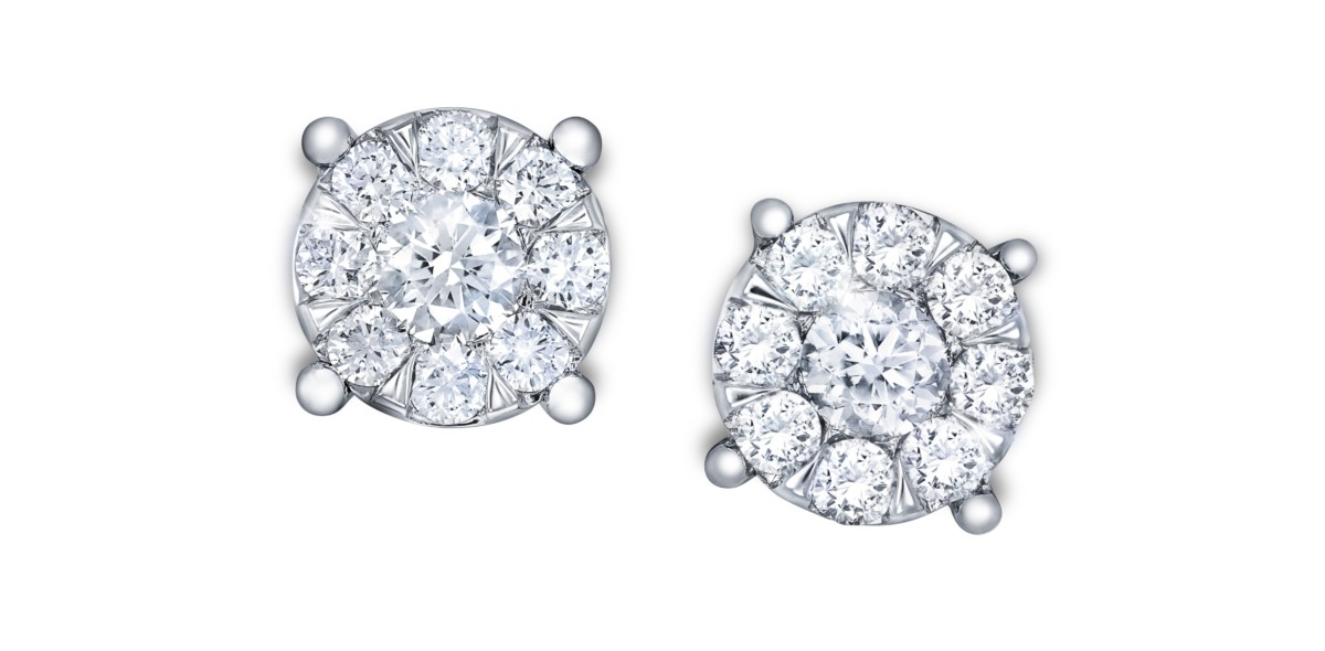 Goldsmiths, Multi Stone Collection, 9ct White Gold 0.15 Carat Total Weight Diamond Multi Stone Stud Earrings £400 (2)