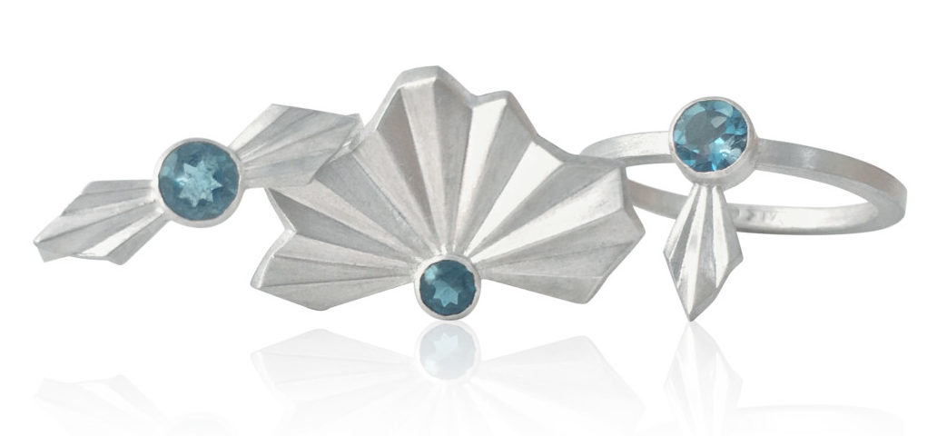 Alice Barnes, silver & London Blue Topaz rrp £125-£145