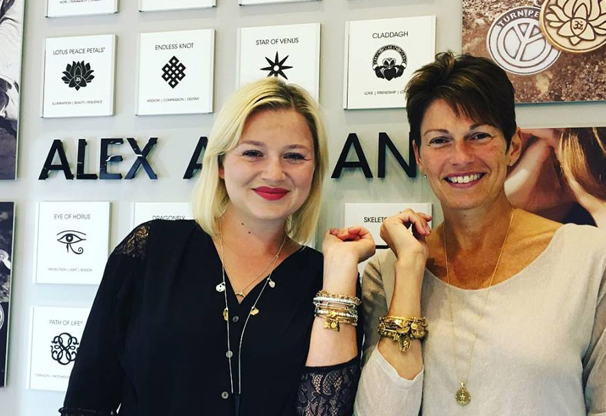 Rachel Costello, Marketing Director, Alex and Ani UK and Jo Stroud, owner of Fabulous