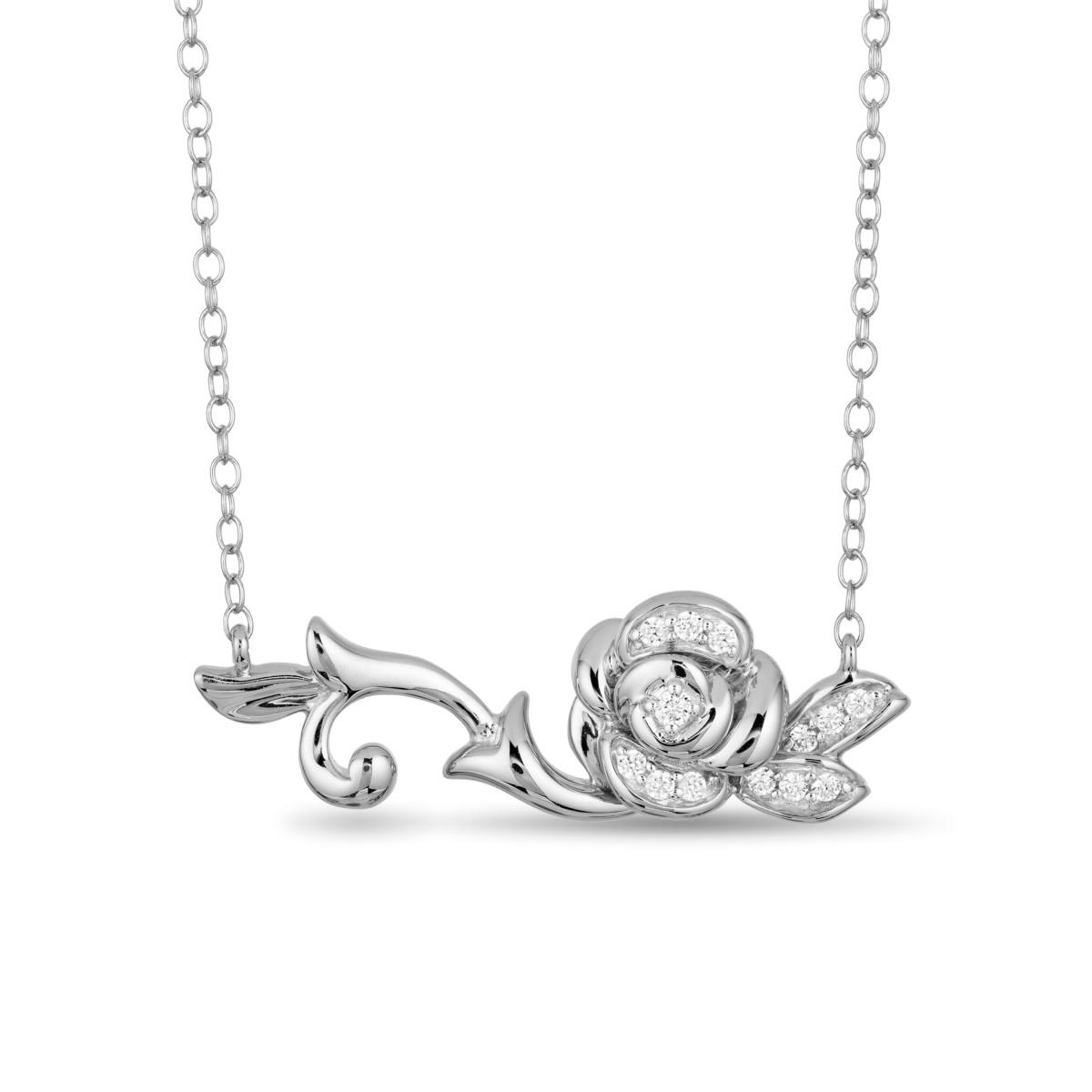 8593205 Enchanted Disney Silver Diamond Belle Necklet £349 at H.Samuel