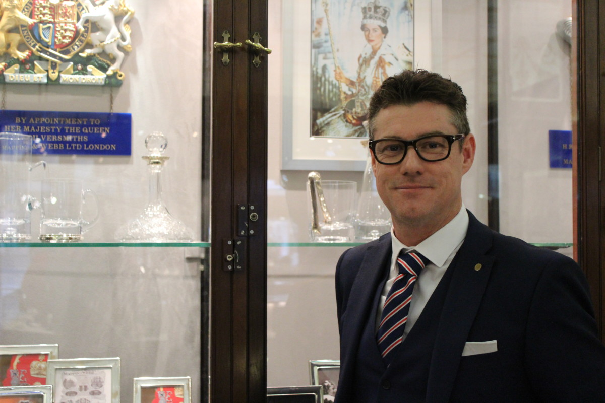 Jason West is the showroom manager at the newly acquired Mappin & Web store