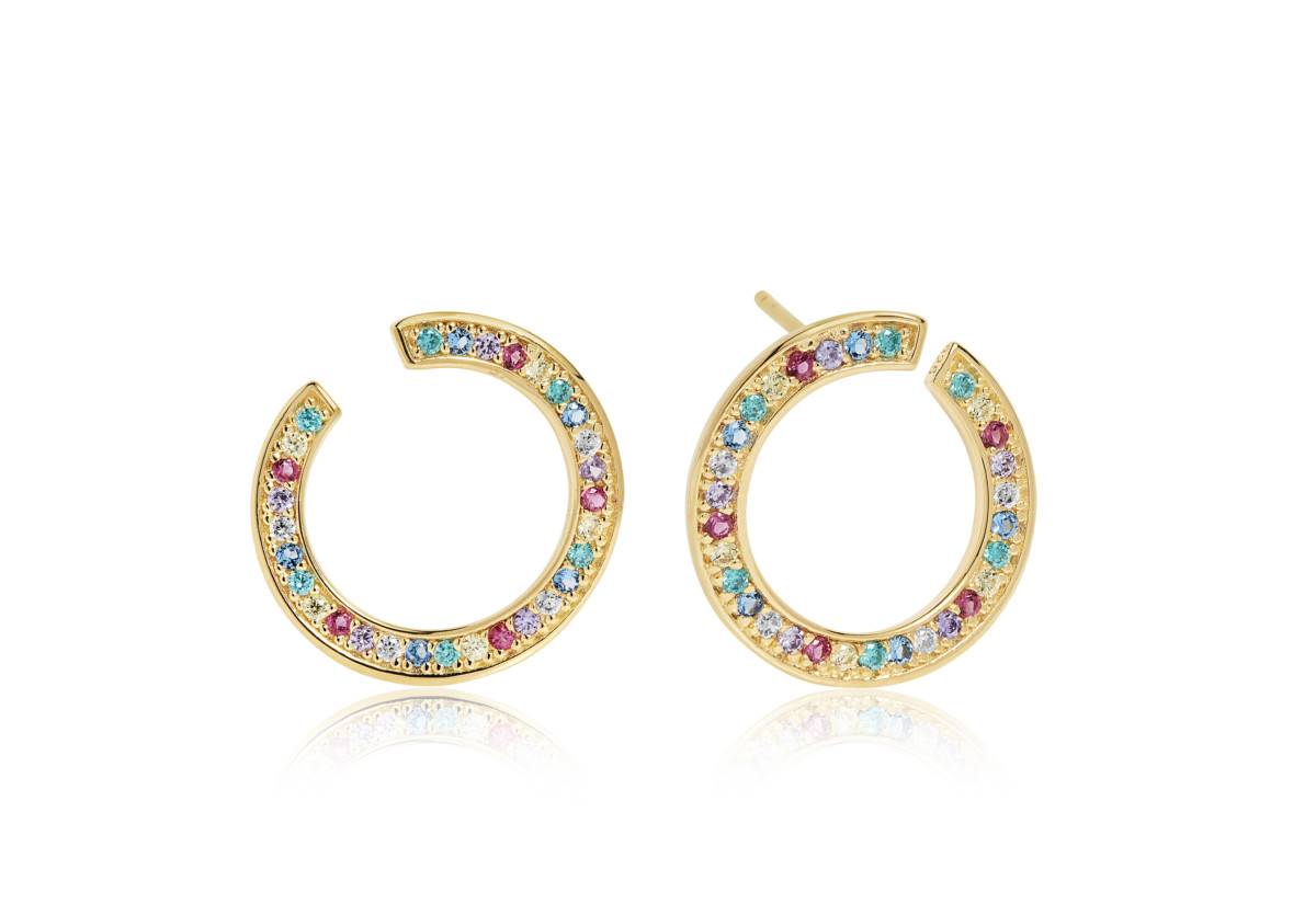 VALIANO CIRCOLO EARRINGS_SJ-E1053-XCZ(YG)