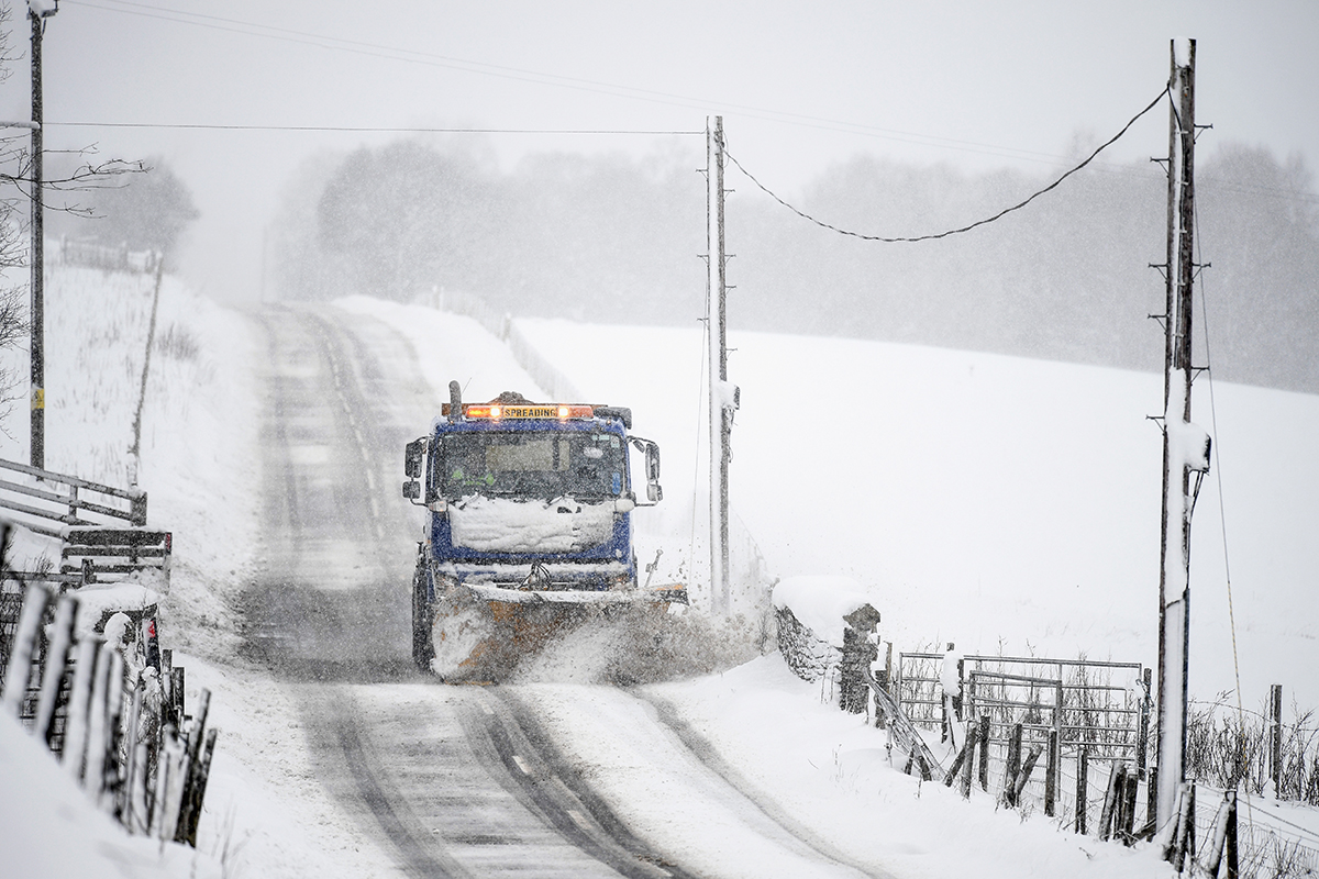 Snow And High Winds Hit Parts Of Scotland