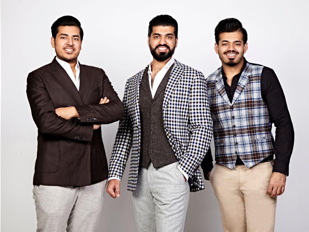 L-R Vivek, Krishan and Arjun Chopra