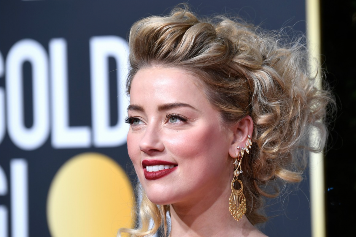 Amber Heard wore diamond earrings by Hanut Singh, Marli New York, Amwaj, Marco Bicego