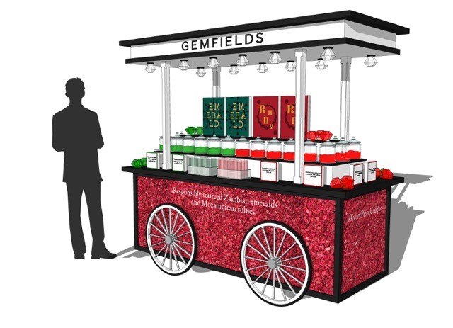 Gemfields pop up sweet stall