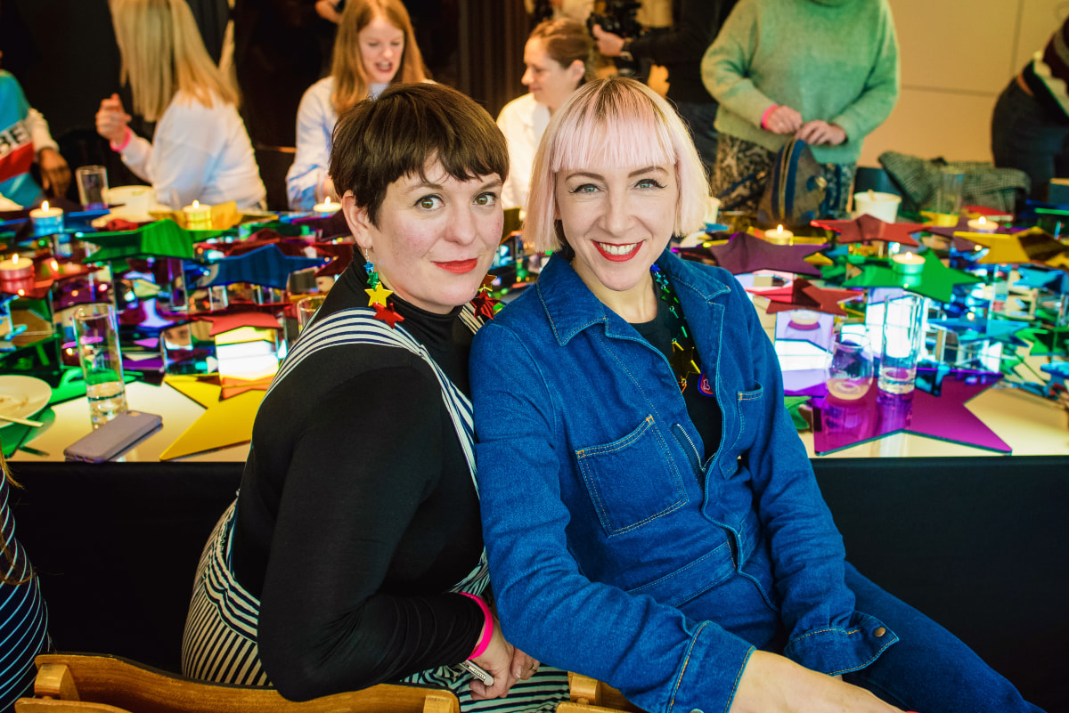 Creative Links talk, Tatty Devine, Harriet Vine MBE (right)