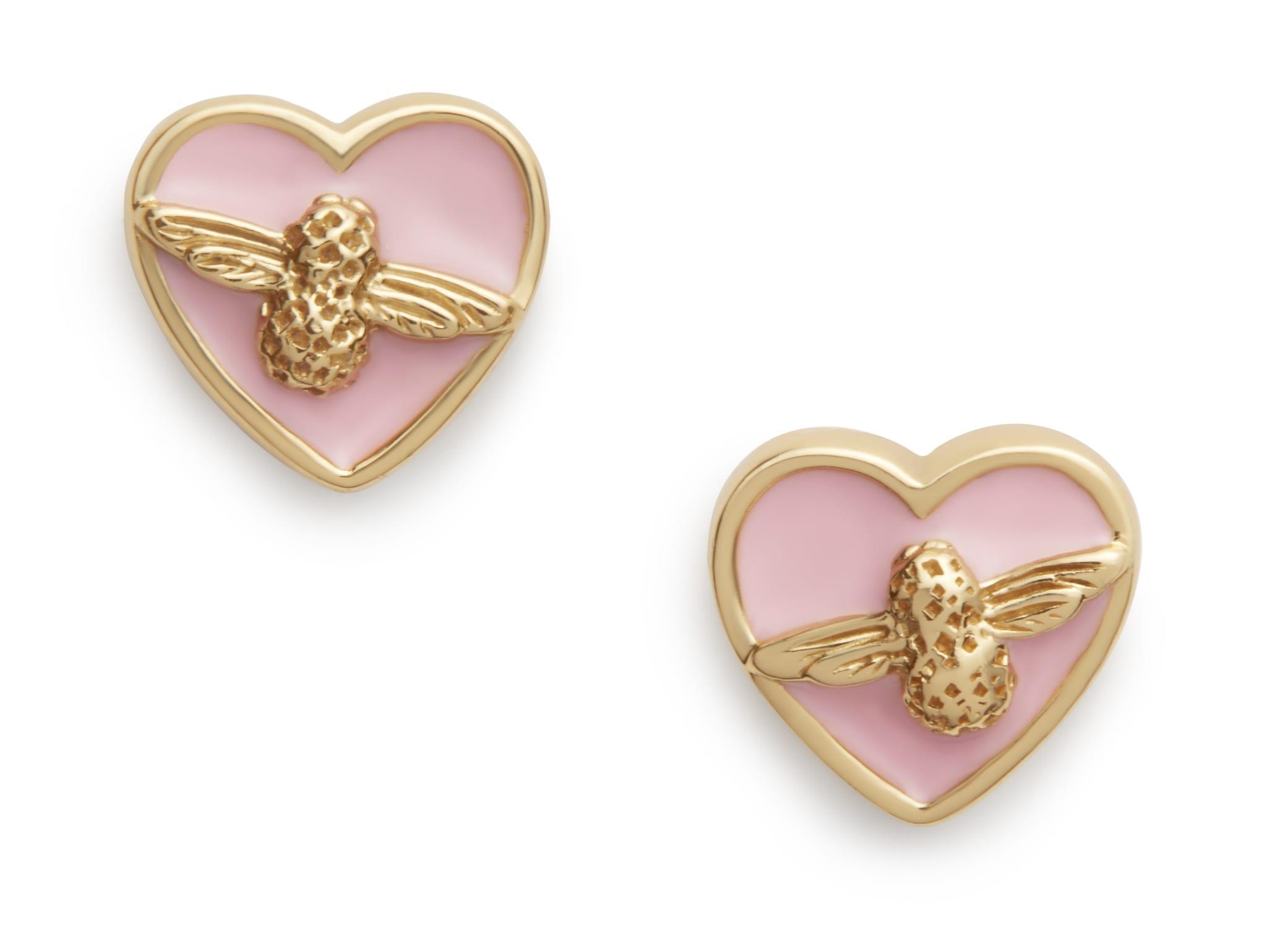 OLIVIA BURTON – OBJLHE12 – LOVE BUG STUDS PINK & GOLD – £40.00 – FRONT