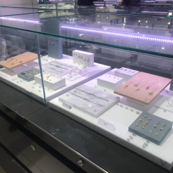 Wrights Plastics POS display for Laura Vann's V range