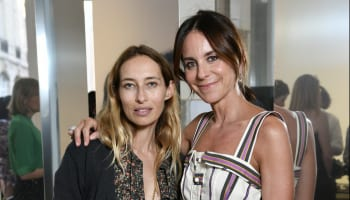 Alexandra Golovanoff and Alison Loehnis attend NET-A-PORTER cocktail to celebrate a collection of high jewelry on July 03, 2019 in Paris, France