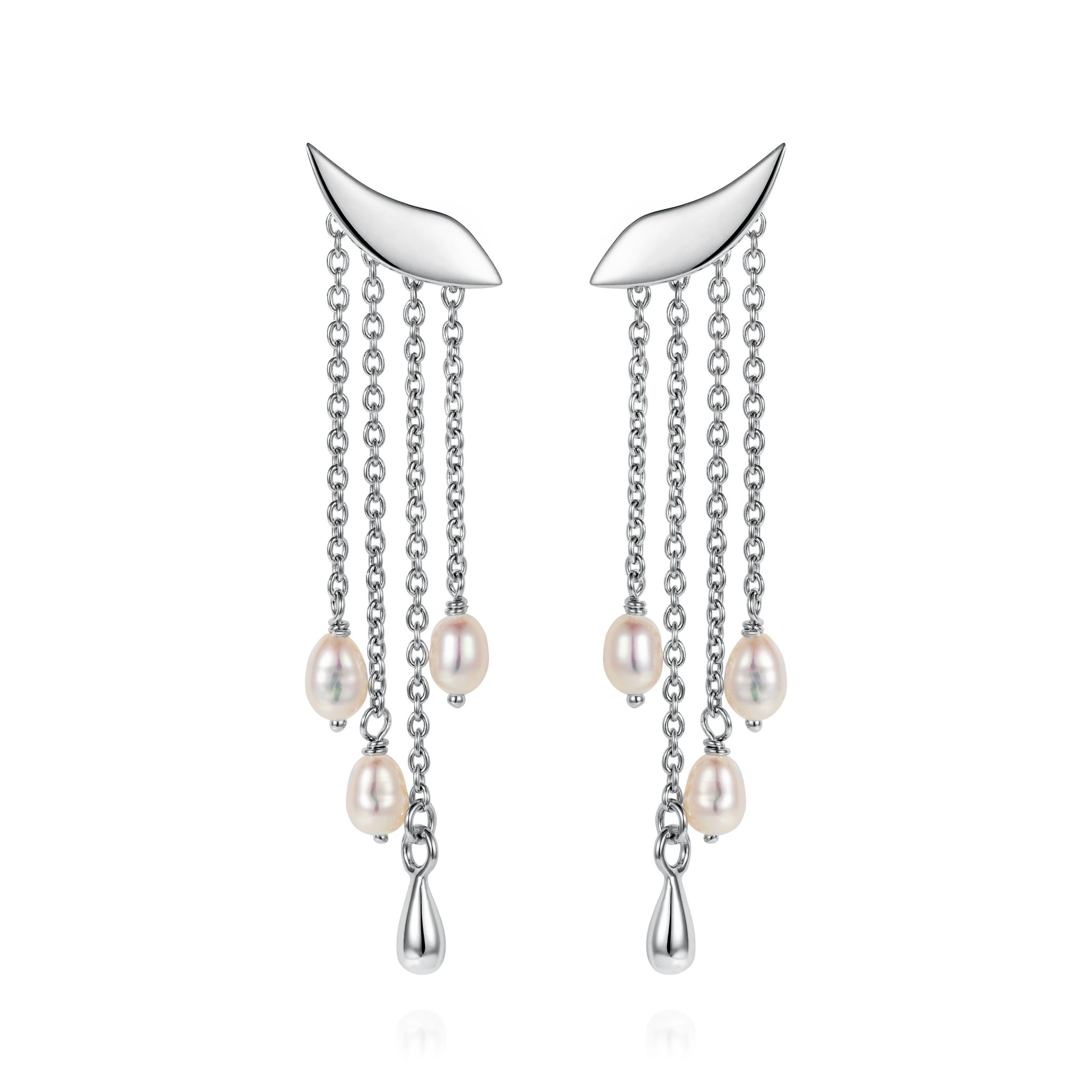 8- Lagertha cascade wing earrings-CBES103