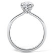 Hockley Mint Embrace Collection AW19 – New Entwining Loop Motif – IJL 2019 (Oval Cut Diamond – MTSS-1178) – Side View